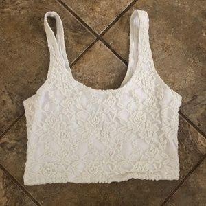 A&F Lace Crop Top